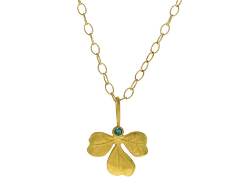 Emerald Clover Charm Pendant ONLY