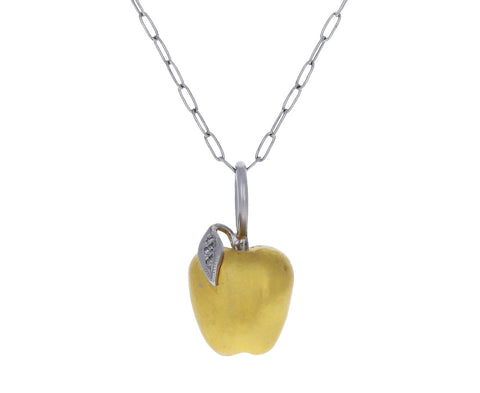 Diamond Leaf Apple Charm ONLY