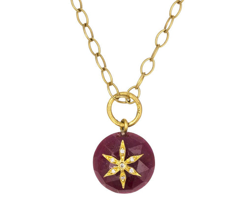 Ruby Star Charm Pendant ONLY - TWISTonline