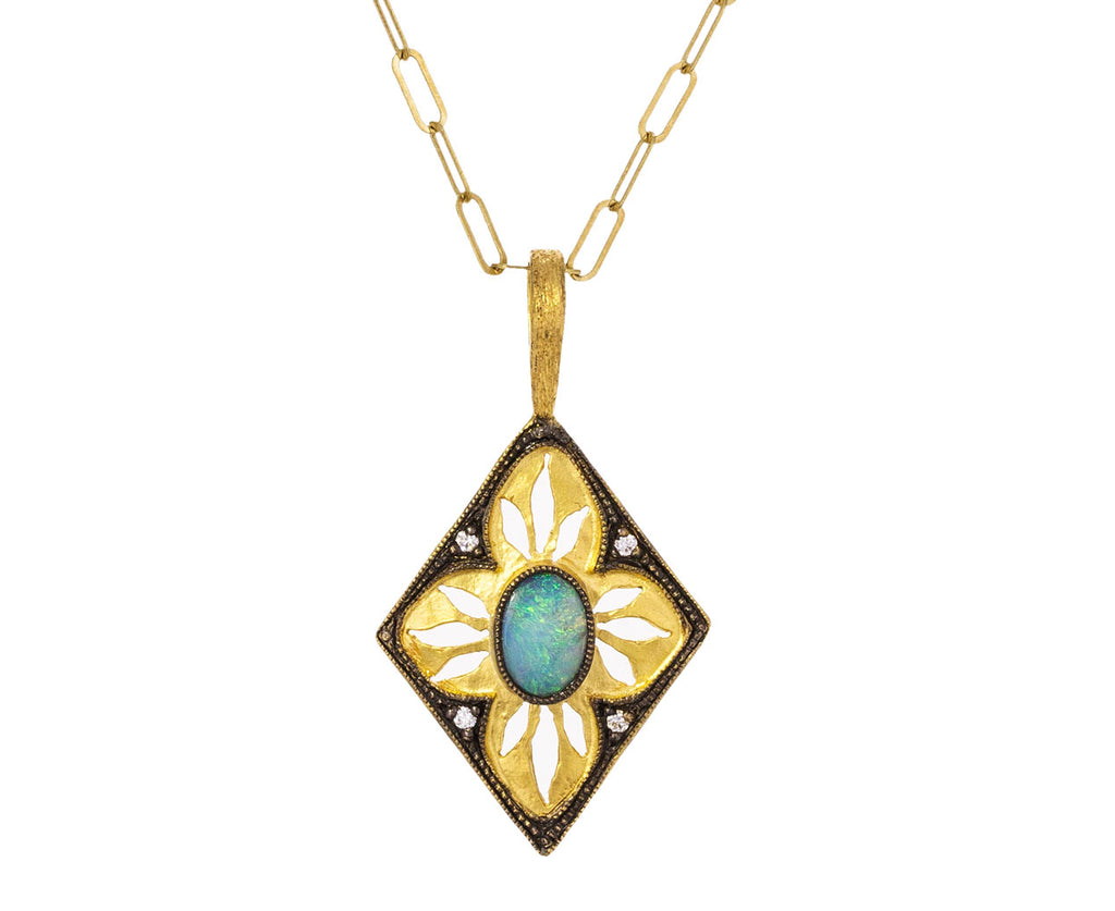 Boulder Opal Diamond Window Charm Pendant ONLY - TWISTonline