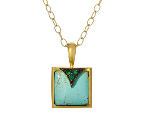 Turquoise Emerald Arrow Pendant ONLY