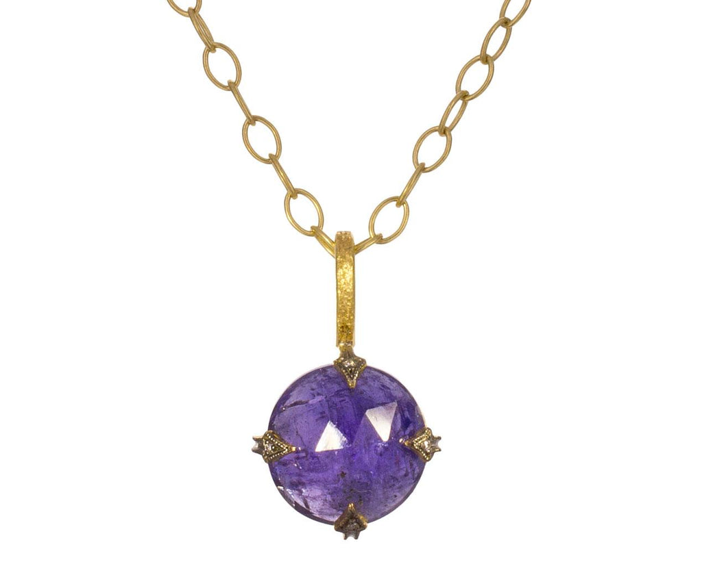 Tanzanite Diamond Charm Pendant ONLY - TWISTonline