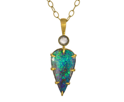 Black Opal and Diamond Charm Pendant ONLY - TWISTonline