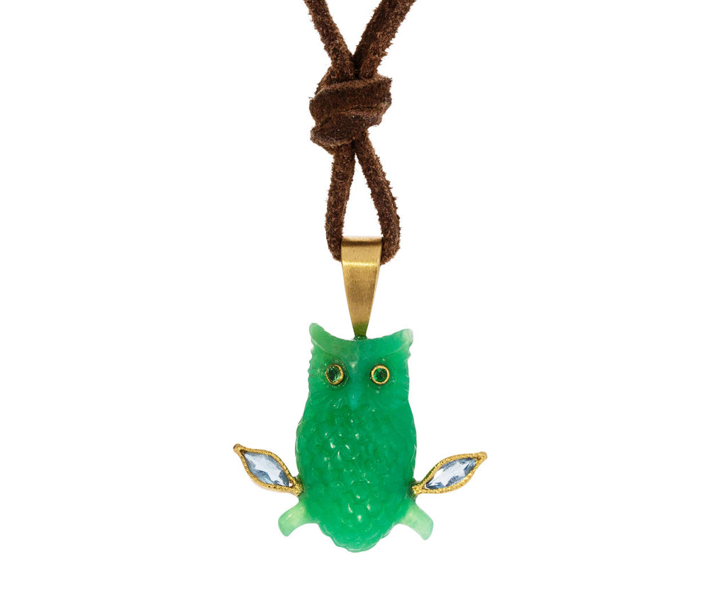 Chrysoprase Owl Necklace - TWISTonline