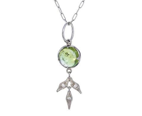 Green Tourmaline Lyrical Wheat Charm Pendant ONLY - TWISTonline