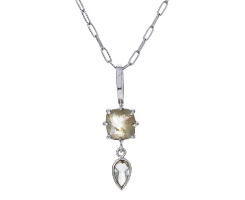 Rustic Diamond Drop Charm Pendant ONLY - TWISTonline