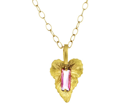 Pink Tourmaline Leaf Pendant ONLY - TWISTonline