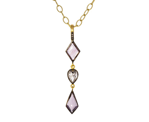 Pink Spinel and Diamond Pendant ONLY