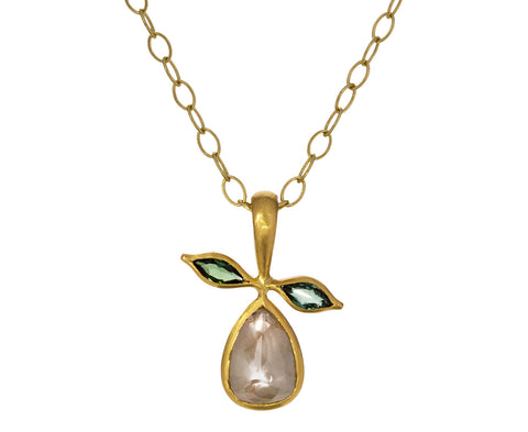 Rustic Diamond Pear Charm Pendant ONLY - TWISTonline