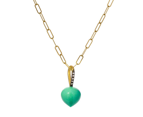Chrysoprase Dew Drop Charm ONLY
