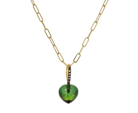 Green Tourmaline Dew Drop Charm ONLY