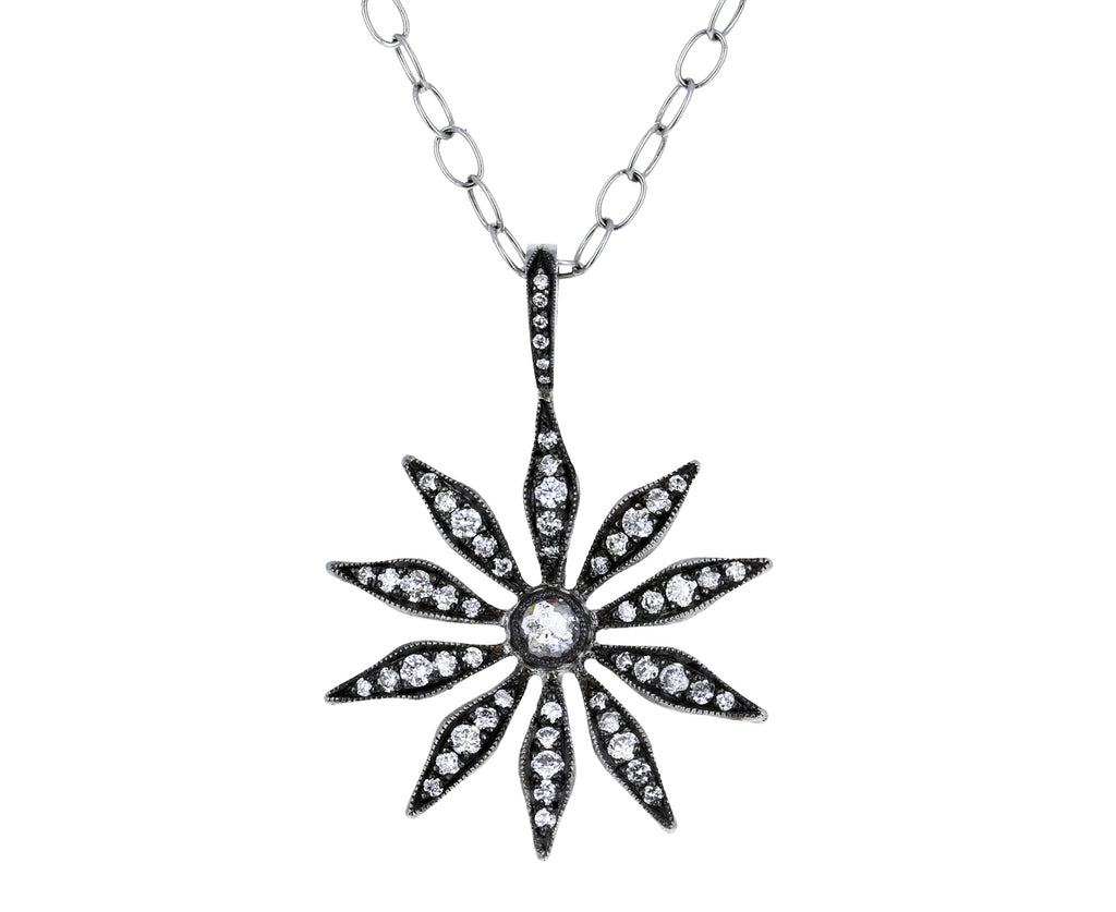 Diamond Spider Flower Pendant ONLY