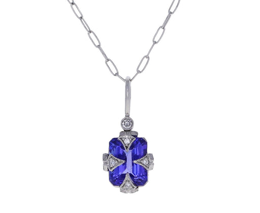 Tanzanite Thorn Charm Pendant ONLY