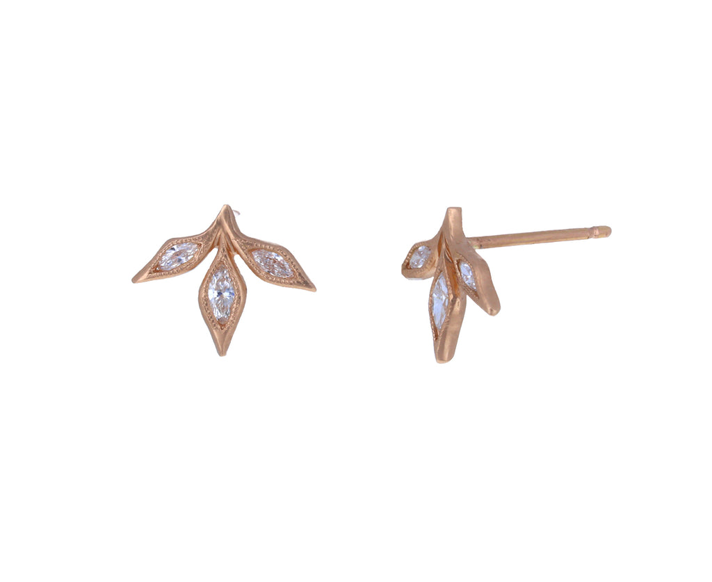 Diamond Three Leaf Earrings - TWISTonline