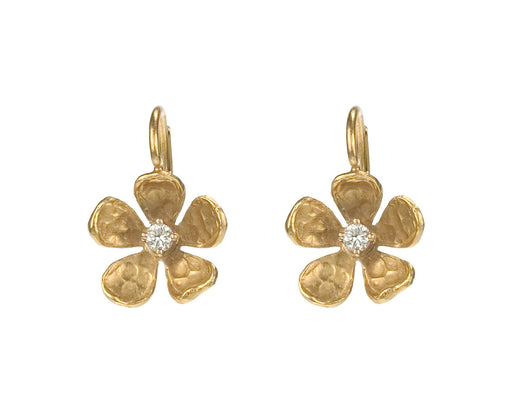 Gold Violet Earrings - TWISTonline