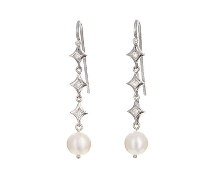 Pearl and Diamond Earrings - TWISTonline