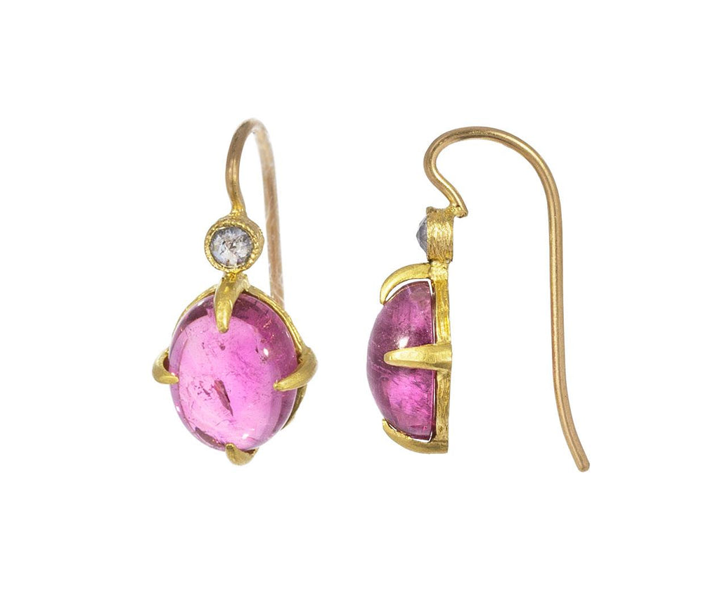 Pink Tourmaline Pointy Prong Earrings - TWISTonline