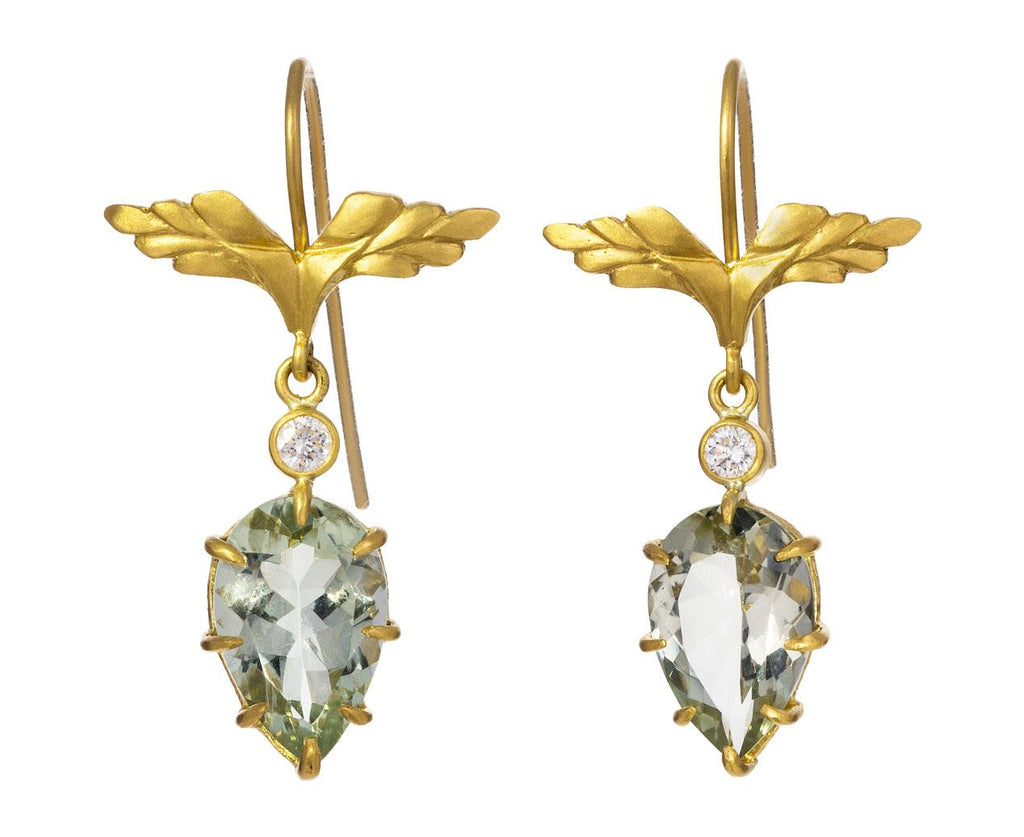 Green Amethyst Wing Earrings - TWISTonline