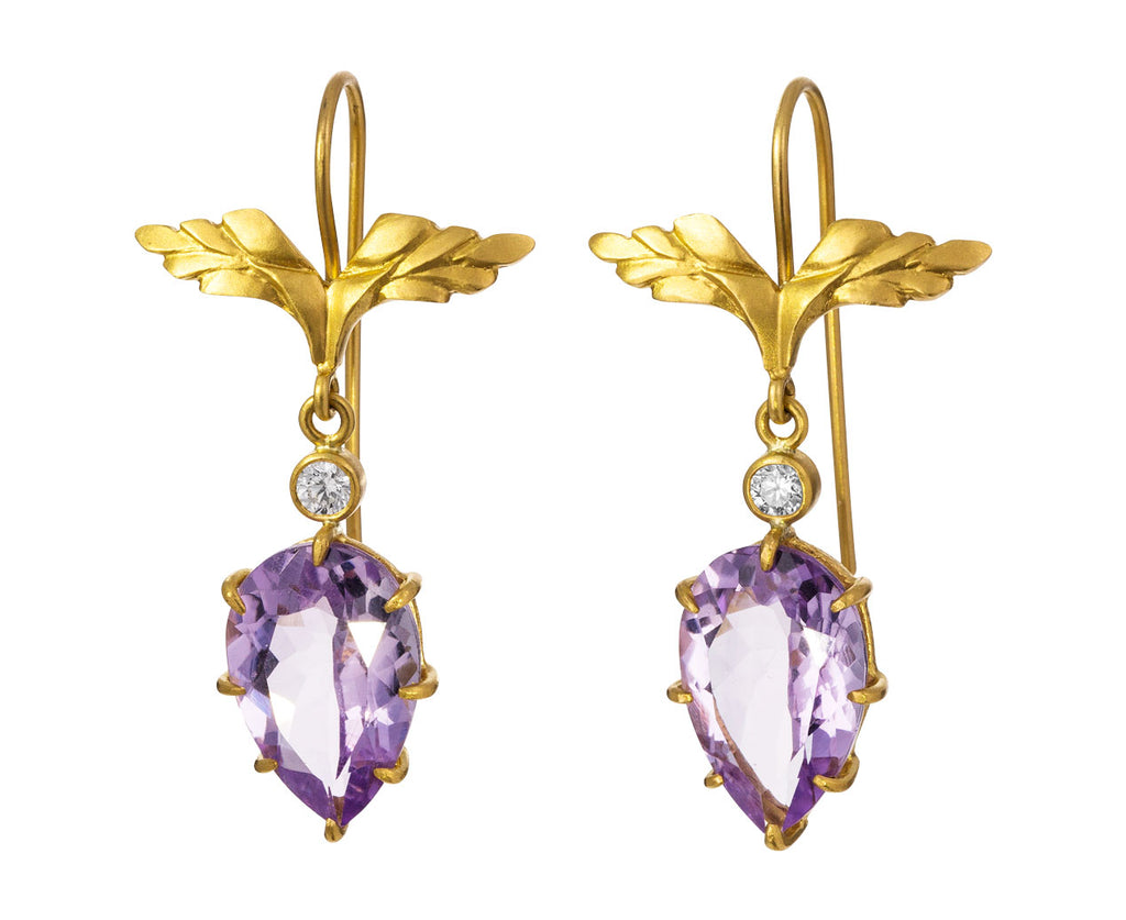 Amethyst Wing Earrings - TWISTonline