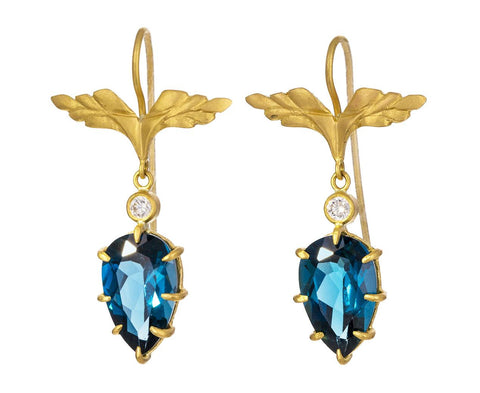 London Blue Topaz Wing Earrings - TWISTonline