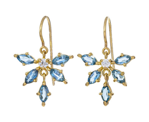 Aquamarine and Diamond Earrings - TWISTonline