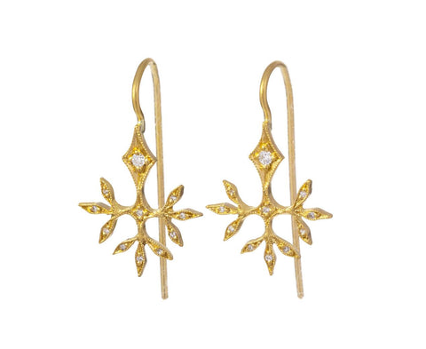 Gold Budding Leaves Earrings zoom 1_cathy_waterman_gold_diamond_budding_leaves_earri
