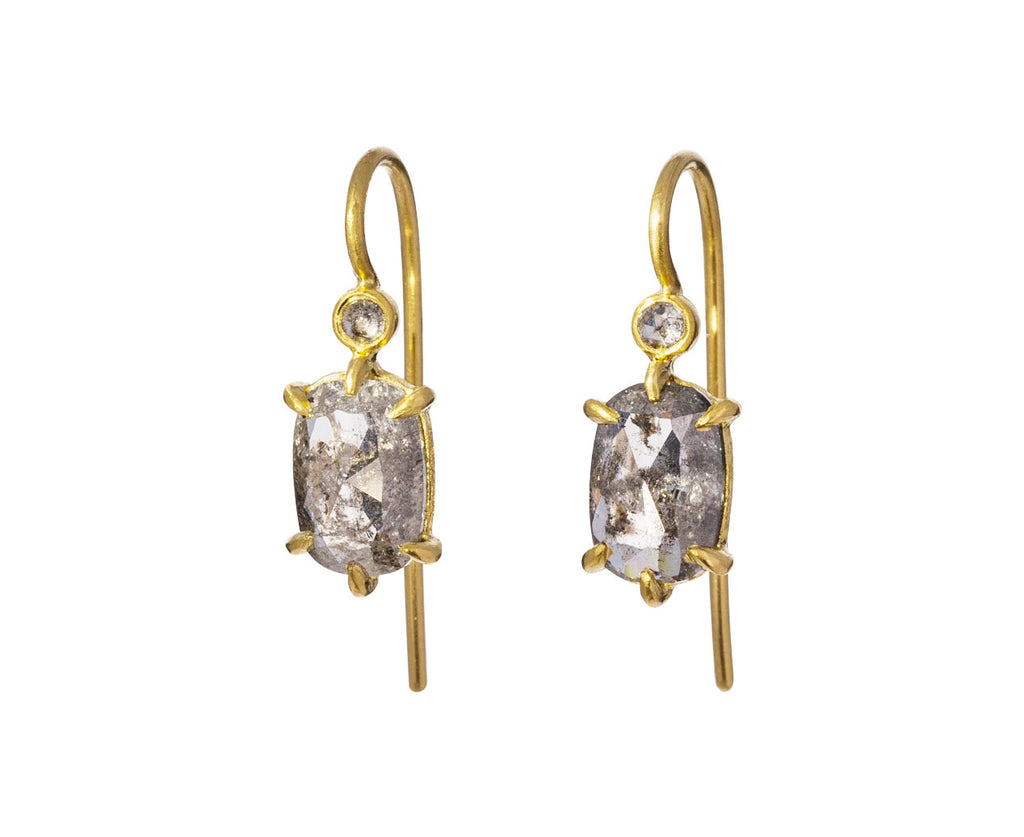 Black and White Rosecut Diamond Earrings - TWISTonline