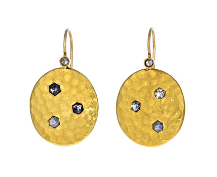 Hammered Oval Diamond Earrings - TWISTonline