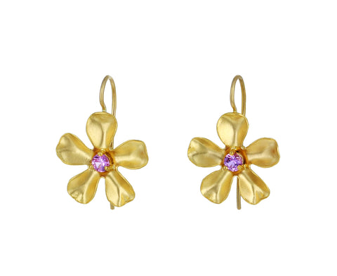 Pink Sapphire Flower Earrings - TWISTonline