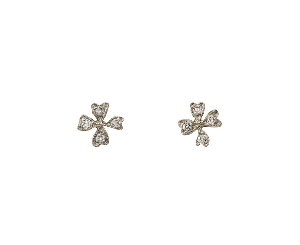 Four Petal Wildflower Earrings zoom 1