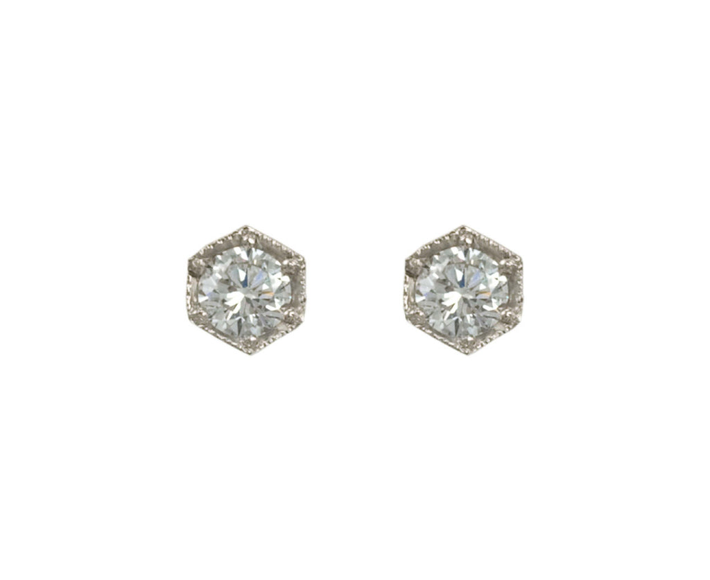 Hexagonal Diamond Earrings - TWISTonline