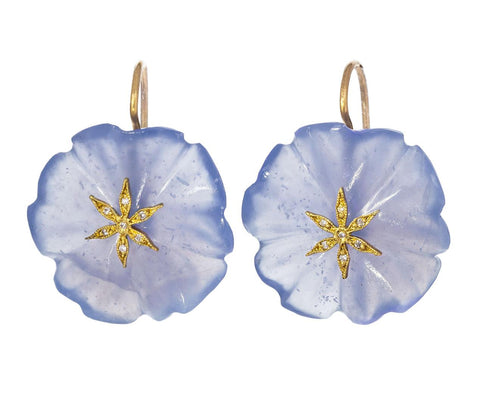 Chalcedony Flower Star Earrings zoom 1_cathy_waterman_gold_diamond_chalcedony_flower_ea