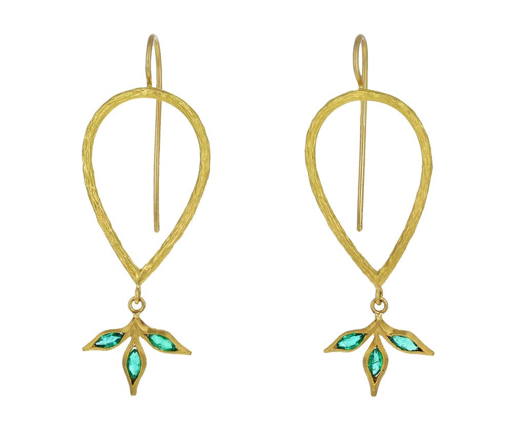 Emerald Leaf Branch Earrings - TWISTonline