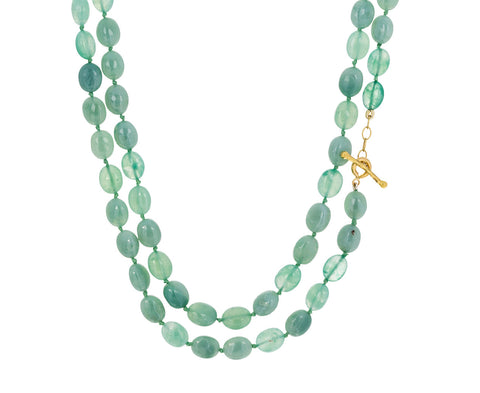 Sage Chalcedony Bead Necklace