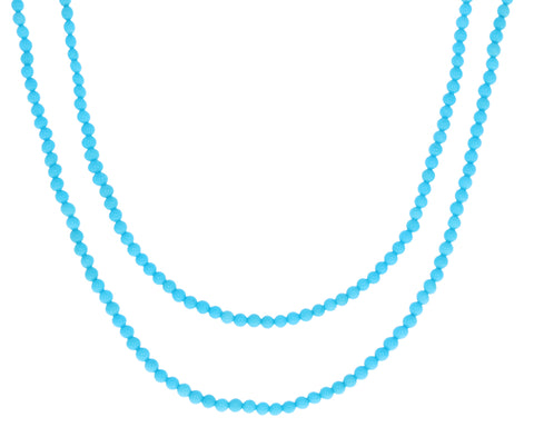 Long Turquoise Bead Necklace