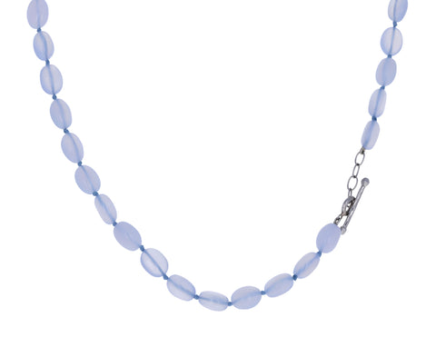 Blue Chalcedony Beaded Necklace