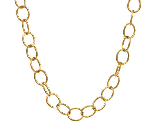 Gold Lacy Chain Necklace zoom 1