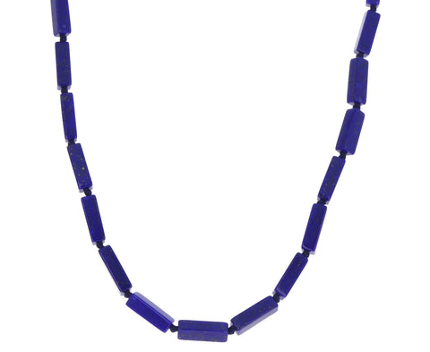 Rectangular Dark Lapis Necklace