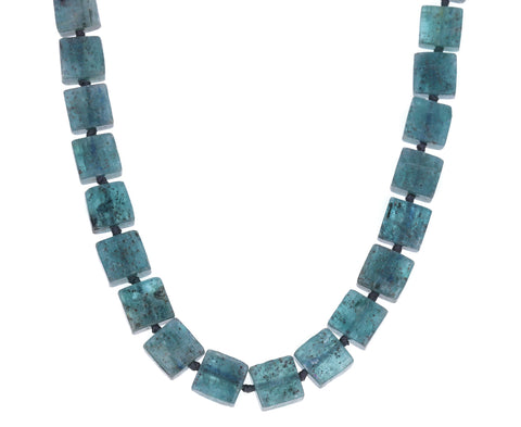 Square Kyanite Beaded Necklace