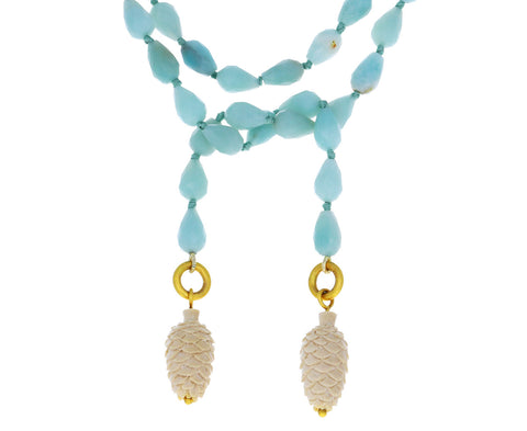 Cathy Waterman Amazonite Pinecone Lariat Necklace