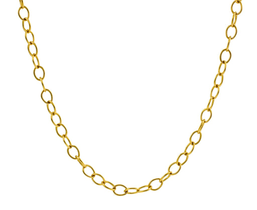 "22"" Gold Tiny Lacy Chain"