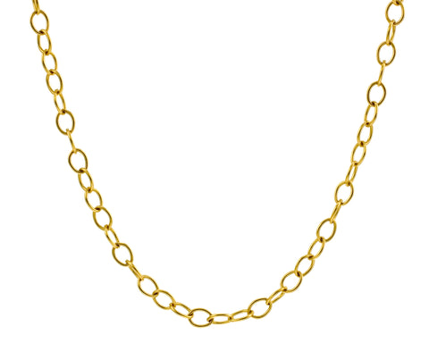 "20"" Gold Tiny Lacy Chain"