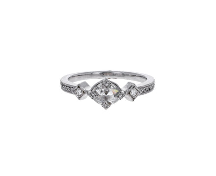 Rose Cut Diamond Antique Prong Solitiare