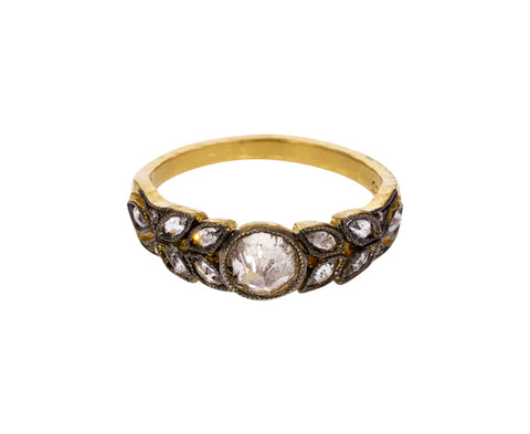 Black and White Diamond Garland Ring - TWISTonline