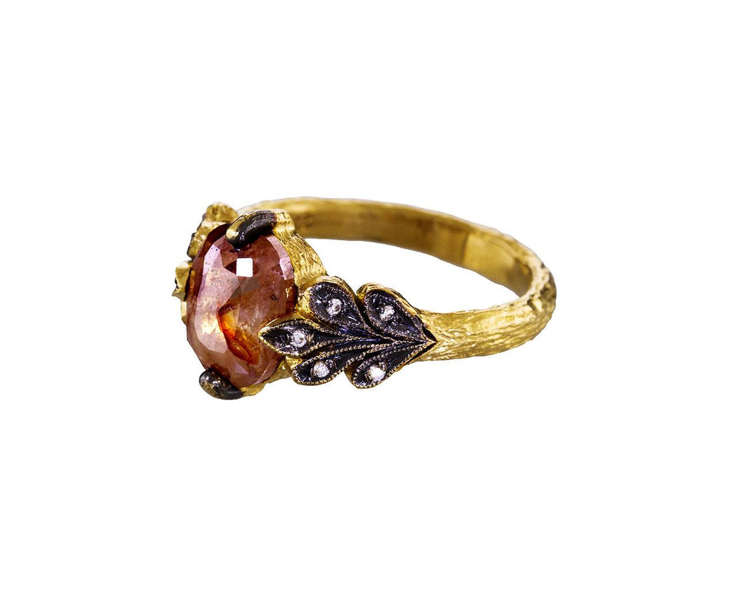Rustic Diamond Oak Leafside Ring - TWISTonline