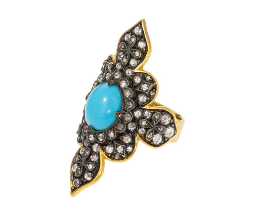 Arizona Turquoise Diamond Claire Ring zoom 1_cathy_waterman_gold_diamond_turquoise_claire_rin