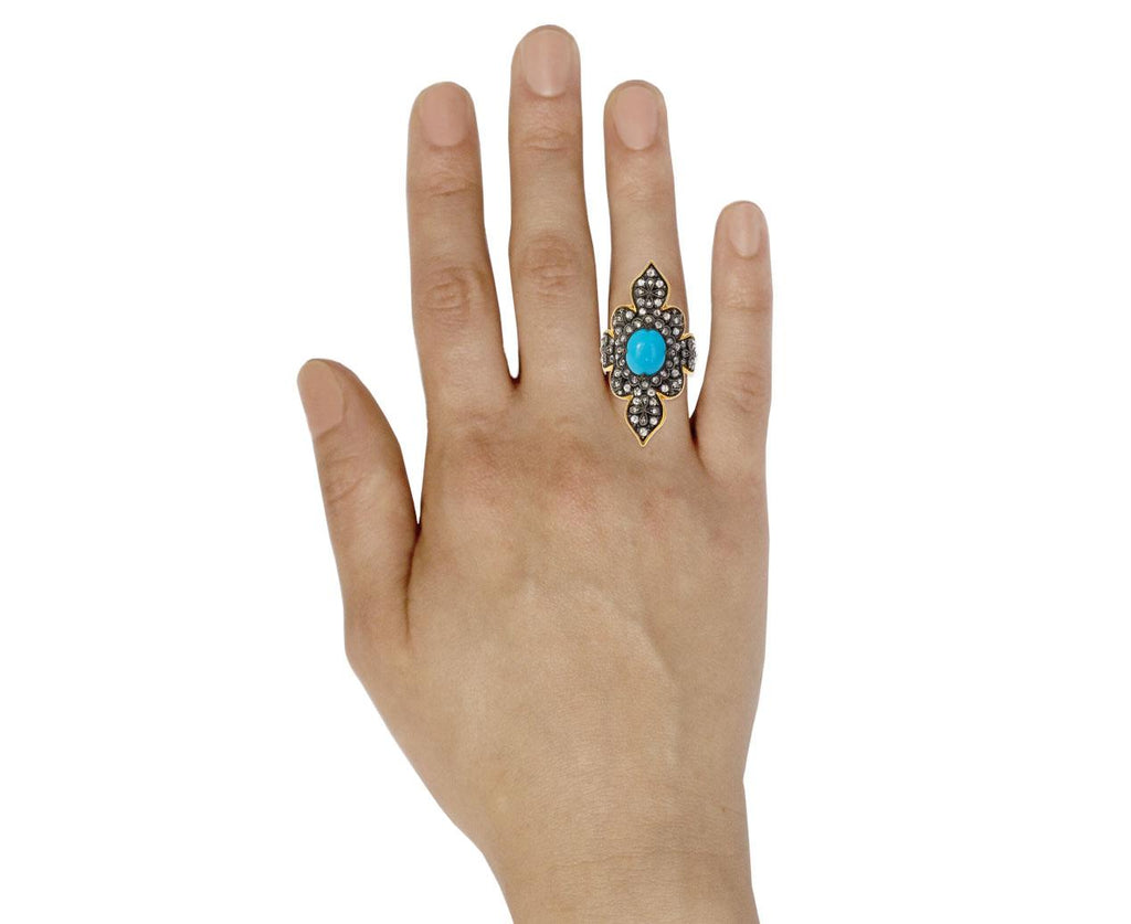 Arizona Turquoise Diamond Claire Ring zoom 9_cathy_waterman_gold_diamond_turquoise_claire_rin
