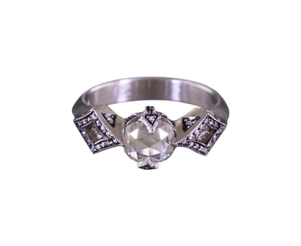Gray Moghul Cut Diamond Solitaire - TWISTonline
