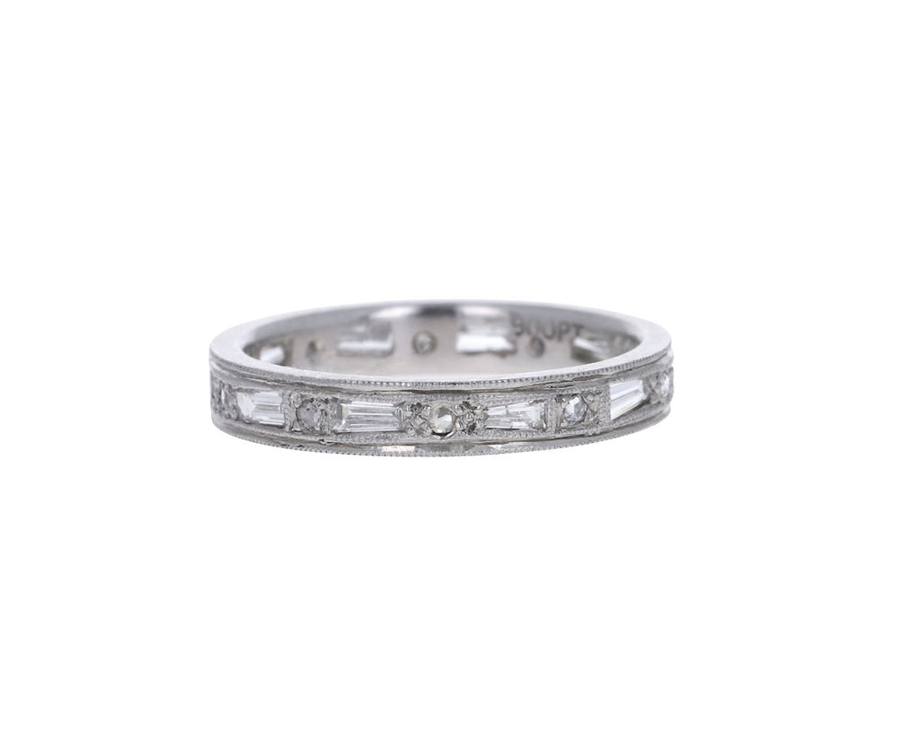 Tapered Diamond Baguette Band