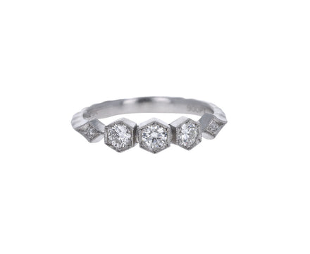 Triple Hexagonal Diamond Band